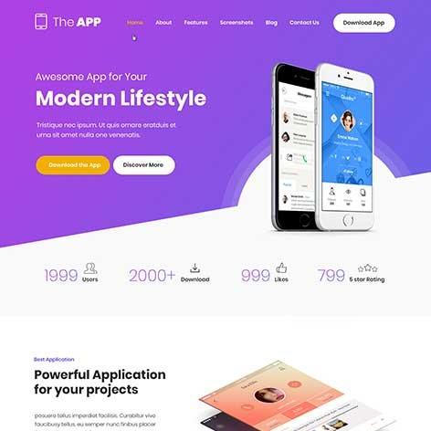 App-WordPress-Theme