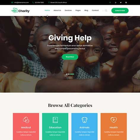 Charity-WordPress-Theme
