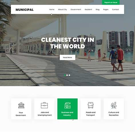 City-Government-WordPress-theme