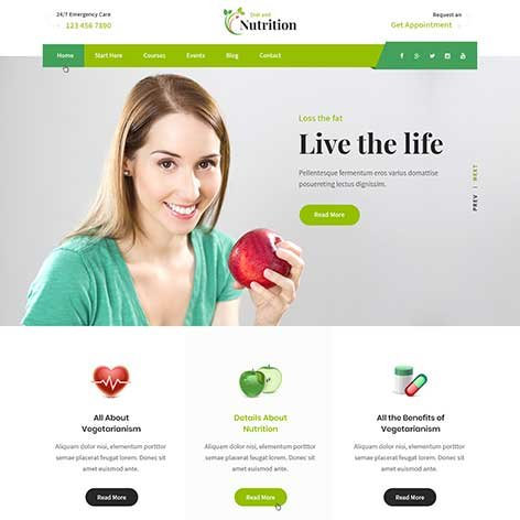 Diet-and-Nutrition-WordPress-theme