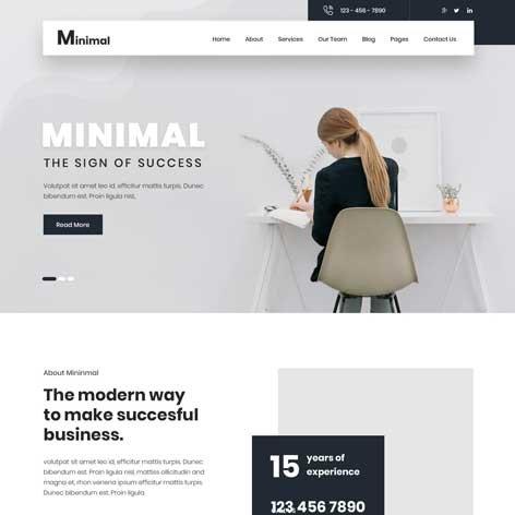 Minimal-WordPress-theme