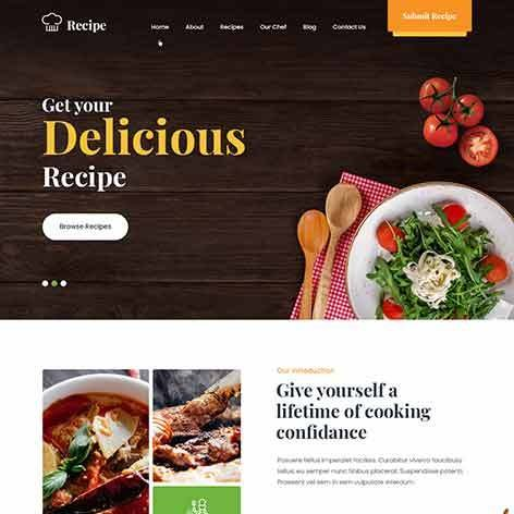 Recipe-WordPress-theme