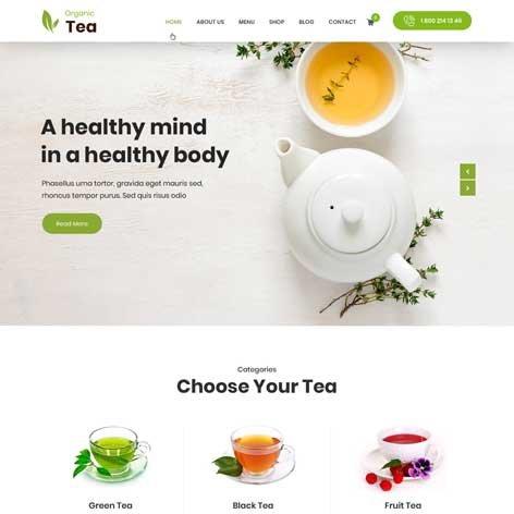 Tea-Shop-WordPress-theme