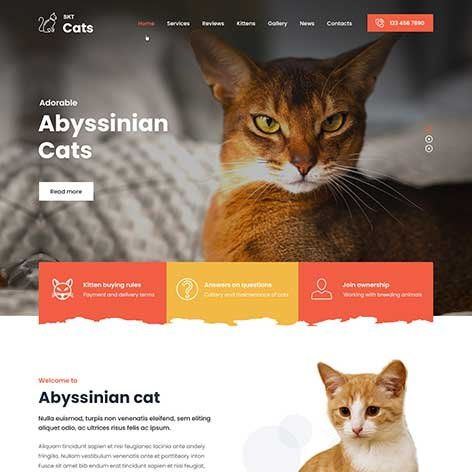 cat-breeding-wordpress-theme