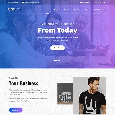 flat-WordPress-theme
