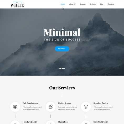 responsive-white-wordpress-theme