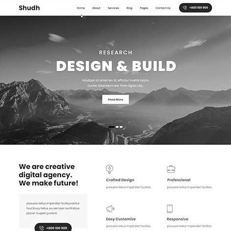 shudh-Minimal-WordPress-Theme