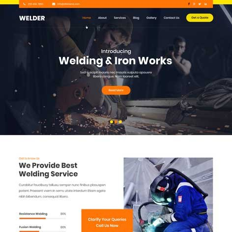 welding-WordPress-theme